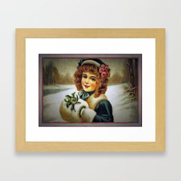 winter young lady Framed Art Print