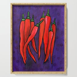 Chili Peppers Serving Tray
