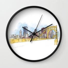 Pittsburgh Sister Bridge Wall Clock
