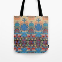 oasis Tote Bags featuring Oasis by Jim Pavelle