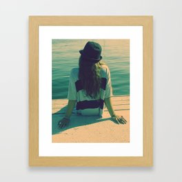 water melody  Framed Art Print