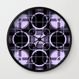 Dark and light Geometric Lavender Cirles Wall Clock