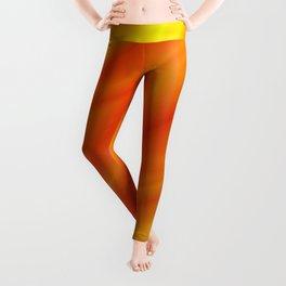 Orange bed sheet Leggings