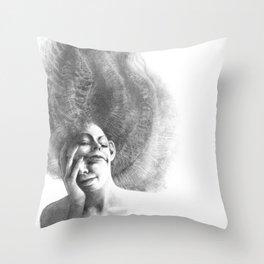 Masks by Iris Compiet Throw Pillow