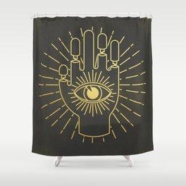 Broken Knuckles Shower Curtain