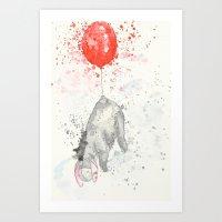 eeyore Art Prints featuring Eeyore by Makenna Raye