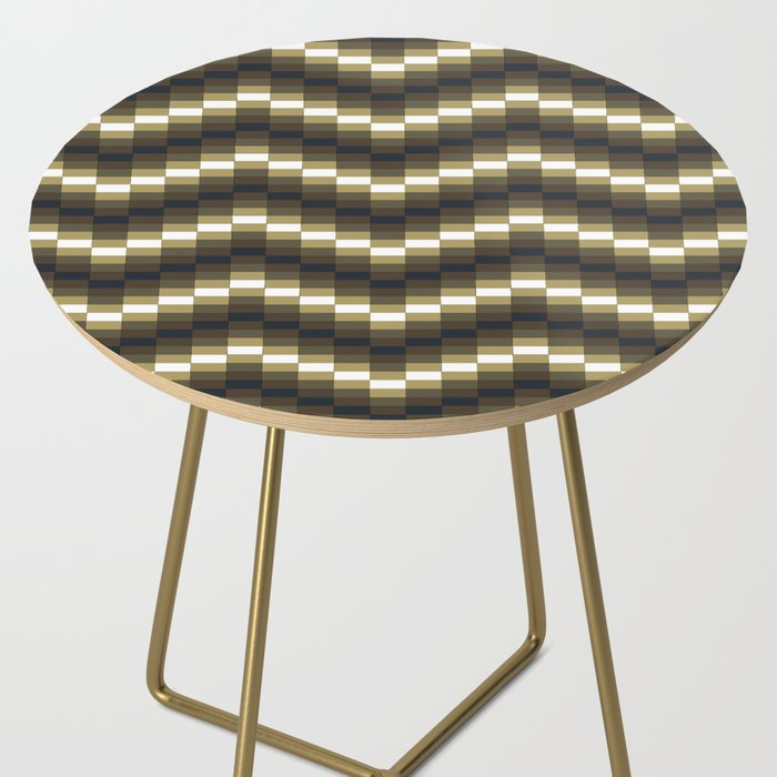 Block Wave Illustration Artwork Side Table