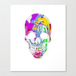 Tye Dye Skull Canvas Print