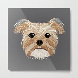 Yorkshire Terrier // Olive Metal Print