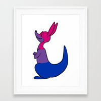 bisexual Framed Art Prints featuring Bisexual Kangaroo by alashby