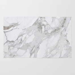 Grey and White Marble Rug