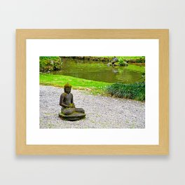 Byodo-In Temple Grounds Study 2 Framed Art Print