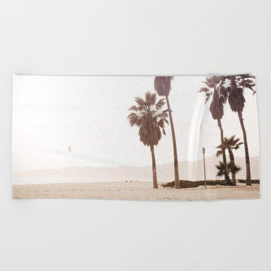 Vintage Summer Palm Trees Beach Towel