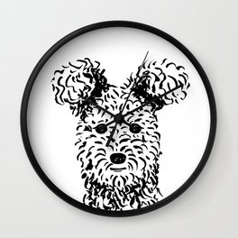 Pumi (Black and White) Wall Clock