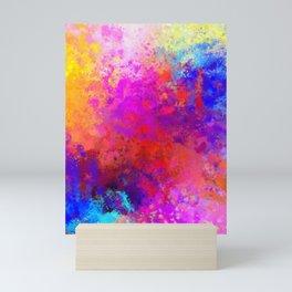Colorful Splatter Mini Art Print