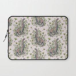 Brachio Ginkgo | Dinosaur Botanical Art Laptop Sleeve