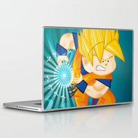 goku Laptop & iPad Skins featuring Goku SSJ  by Juan David Giraldo Ramirez