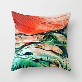 RiverDelta Throw Pillow