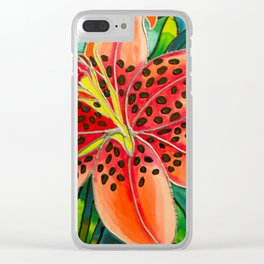 Pink Lily in Belize Clear iPhone Case