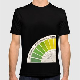 Vintage Color Wheel - Art Teaching Tool - Rainbow Mood Chart T-shirt