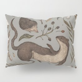 Weasel and Hedgehog Pillow Sham