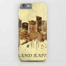 Grand Rapids Michigan Cityscape iPhone Case