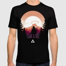 The Legend of Zelda - Orange Version Black Mens Fitted Tee MEDIUM