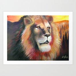 """""""Lion Heart"""" Art Print"""