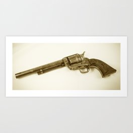 Guns Of The Old West - Colt .45, #3, Sepia Art Print