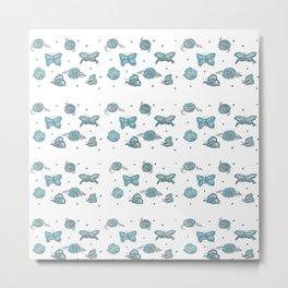 Butterfly flutterby blue petite Metal Print