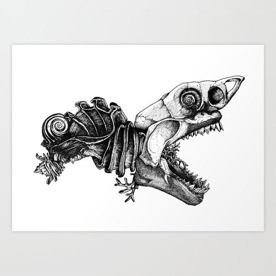 Prehistoric Bloom - The Fish Art Print