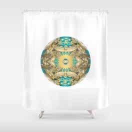 Mandala Gold art Shower Curtain
