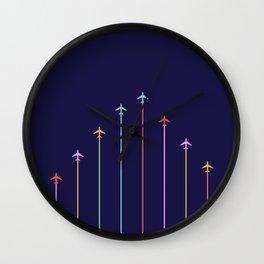 Retro Airplanes 09 Wall Clock