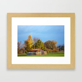Concept nature : Wood for winter Framed Art Print