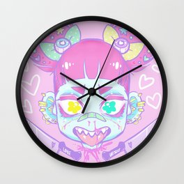 KAWAII ZOMBIE Wall Clock