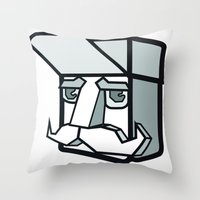 the dude Throw Pillows featuring DUDE by Serhiy FE