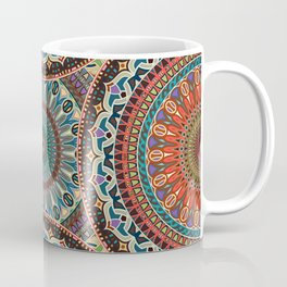 Colorful abstract ethnic floral mandala pattern Coffee Mug