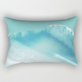 Geode Crystal Turquoise Blue Rectangular Pillow