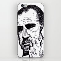 godfather iPhone & iPod Skins featuring The Godfather by tyler Guill