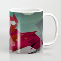 superheroes Mugs featuring Superheroes SF by Scott Balmer