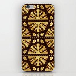 Chocolate Art Deco Fan iPhone Skin