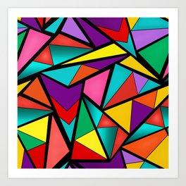 Abstract bright multicolored geometric pattern . 4 . Art Print