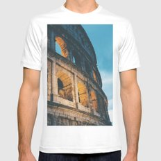 Rome White MEDIUM Mens Fitted Tee
