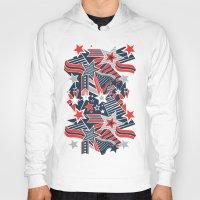 patriotic Hoodies featuring Patriotic Pattern by Aron Gelineau