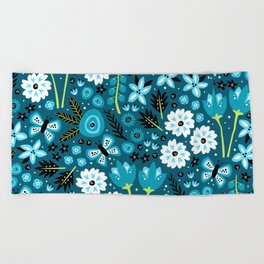 Spring Garden Beach Towel