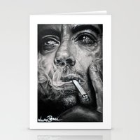 robert downey jr Stationery Cards featuring Robert Downey JR by Luna Perri