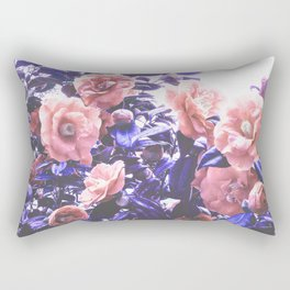 Wild Roses - Ultra Violet and Coral #decor #floral #buyart Rectangular Pillow