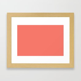 PEACH ECHO PANTONE 16-1548 Framed Art Print