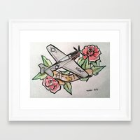 planes Framed Art Prints featuring Planes by CalaelTattoo