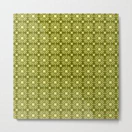 Green Citrus Pattern Metal Print